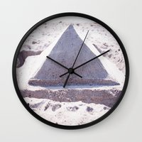 Sandy Triangle  Wall Clock