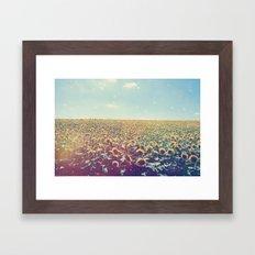 Dreamy Sunflowers Framed Art Print
