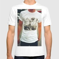 berlin wall  Mens Fitted Tee White SMALL