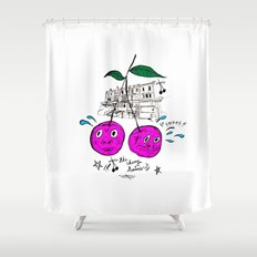 Cherry Twins Shower Curtain