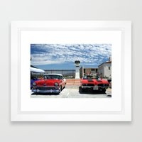 At the Car Show Framed Art Print