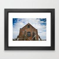 Cotton Gin House Framed Art Print