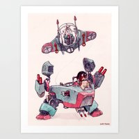 The Dog Brothers Art Print
