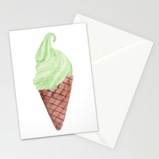 Watercolour Illustrated Ice Cream - Lime & Lemonade Stationery Cards