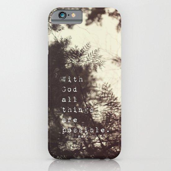 Mark 10:27 iPhone & iPod Case