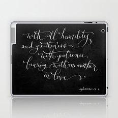 Bearing in Love // White on Black Laptop & iPad Skin