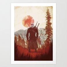 witcher geralt variation print Art Print