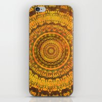 Golden Sun Mandala 2 iPhone & iPod Skin