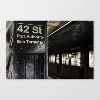 42nd Street Subway Stop Canvas Print
