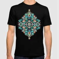 Modern Folk in Jewel Colors Black Mens Fitted Tee SMALL