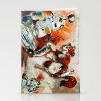 Cat Vs. Robot Stationery Cards