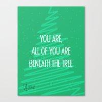 Beneath The Tree Canvas Print