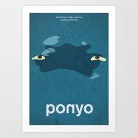 Ponyo Art Print