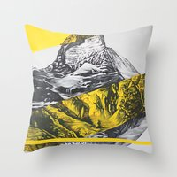 brocken mountain Throw Pillow