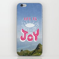 Life is A Single Skip for Joy iPhone & iPod Skin