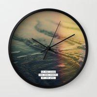 Calm Yourself Wall Clock