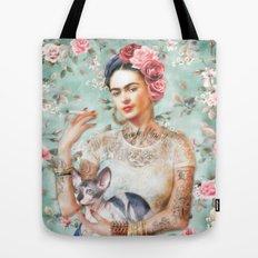 Frida's Exotic Cat Tote Bag