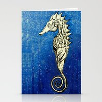 Tribal Seahorse Stationery Cards