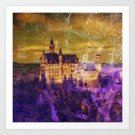 Yellow And Purple Neusch… Art Print