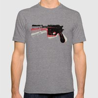 Blaster (Left) Mens Fitted Tee Tri-Grey SMALL