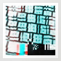 Glitchy keys Art Print