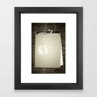 Forgive Me Framed Art Print