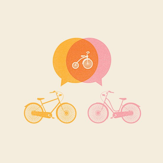 Bike Love Art Print