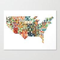 Geometric United States Canvas Print