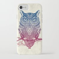 butterfly iPhone & iPod Cases featuring Evening Warrior Owl by Rachel Caldwell