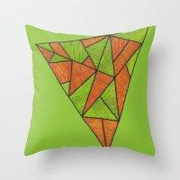 Orange loves green Throw Pillow