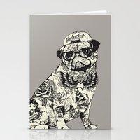 Pug Tattoo Stationery Cards