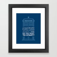 Doctor Who - TARDIS Wher… Framed Art Print