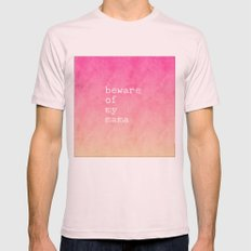 Beware Of My Mama Pink Mens Fitted Tee Light Pink SMALL