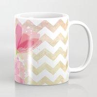 Chevron Tulips Mug