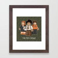 The Mini Crowd Framed Art Print