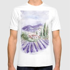 Provence White SMALL Mens Fitted Tee