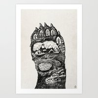 Bear Paw Art Print