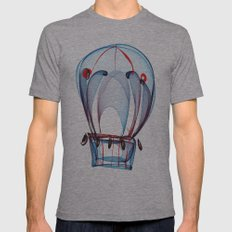 Hot Air Ballon Mens Fitted Tee Athletic Grey SMALL