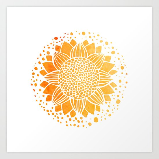 Sun Mandala Art Print By Aloke Design Society6