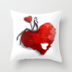 Heart Girls I Throw Pillow