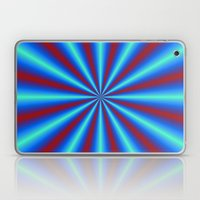 Red And Blue Pleats Laptop & iPad Skin