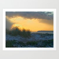 Sand Dunes, Tramore Co. Waterford Art Print