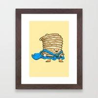 Captain Pancake Framed Art Print