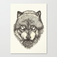 Day wolf Canvas Print