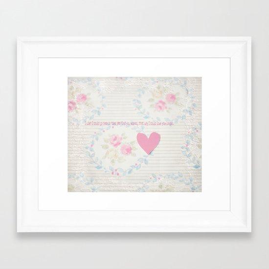 Go Back In Time Valentines  Framed Art Print
