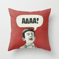 AAAA! Throw Pillow