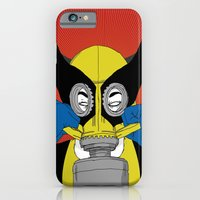 iPhone & iPod Case featuring Wolverine Gas Mask by Chris Tobar Art