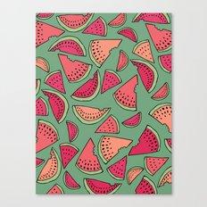 Watermelon Party Canvas Print