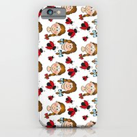 Girls and ladybirds pattern iPhone 6 Slim Case