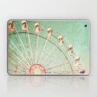 Ferris Wheel on Blue Textured Sky  Laptop & iPad Skin